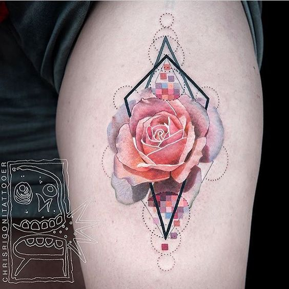 Popping Rose Arm Tattoo