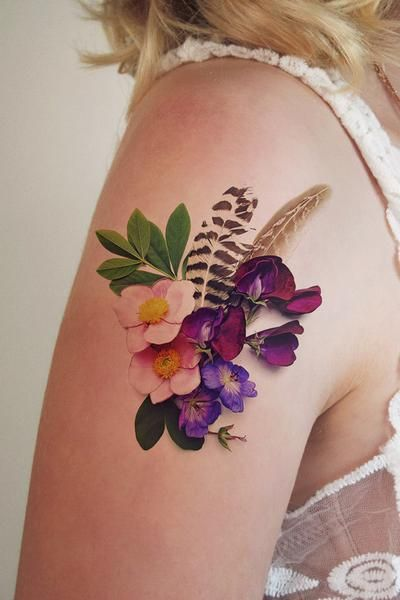 Realistic Flower Tattoos On The Right Forearm Tattoo: 40 Unbelievably Beautiful Realistic Flower Tattoos