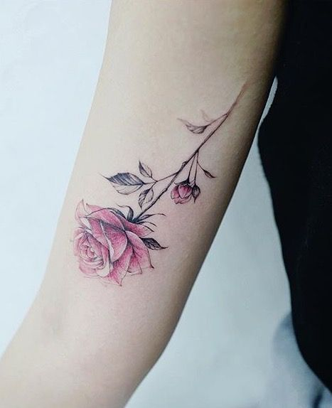 Stunning Rose Arm Tattoo