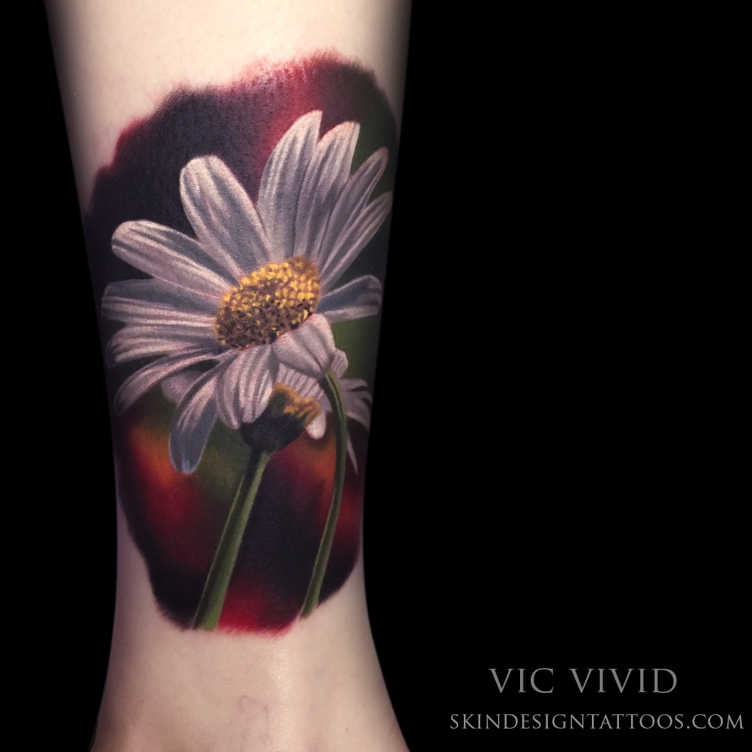 Realistic Daisy Tattoo: 40 Unbelievably Beautiful Realistic Flower Tattoos