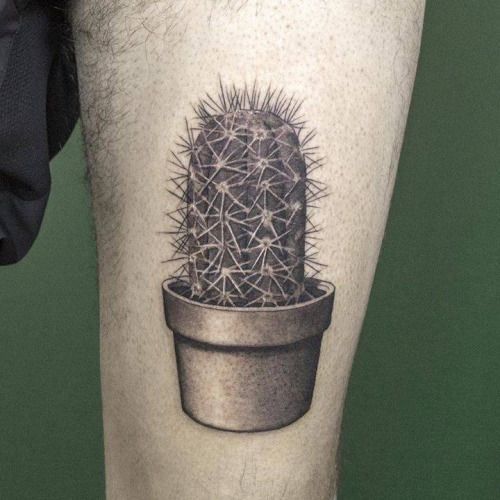 Surreal Cactus Tattoo
