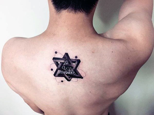 3D Eye Of Providence Back Tattoo