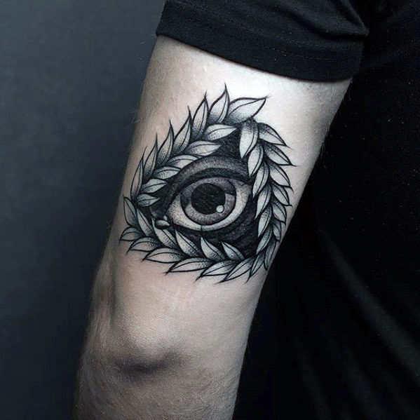 Botanical Eye Of Providence Arm Tattoo