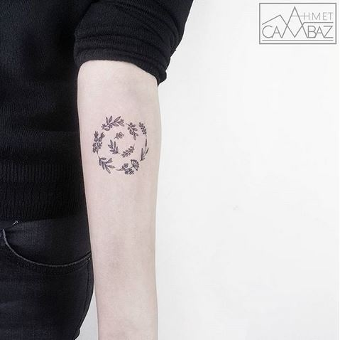 Botanical Spiral Forearm Tattoo