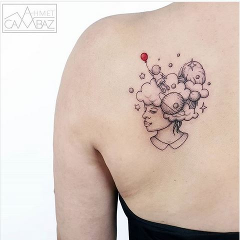 Cosmic Mind Back Tattoo