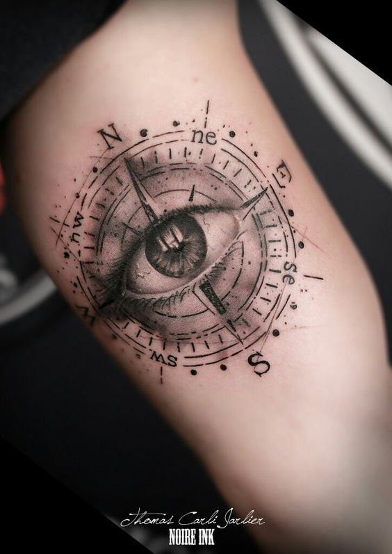 Eye Of Providence Compass Tattoo