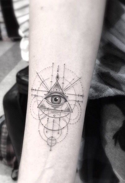 Eye Of Providence Geometry Tattoo