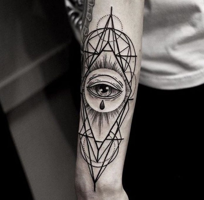 Eye Of Providence Sacred Geometry Arm Tattoo