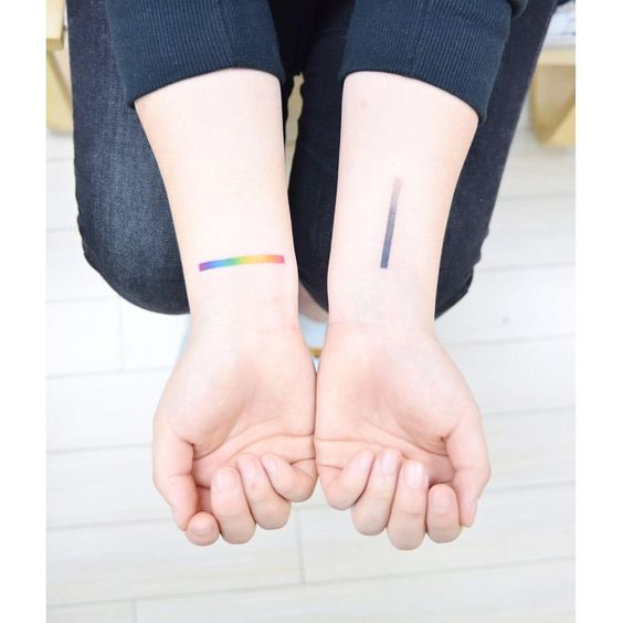 Gradient Lines Forearm Tattoos