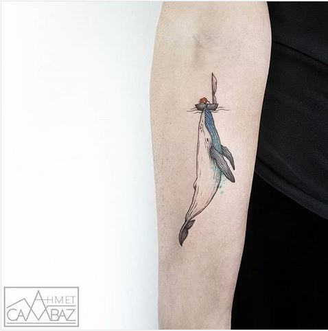 Majestic Whale Arm Tattoo
