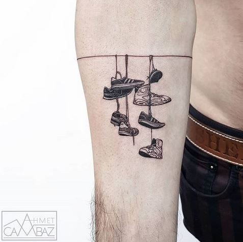 Shoes Display Forearm Tattoo