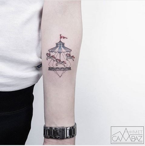 The Carousel Forearm Tattoo