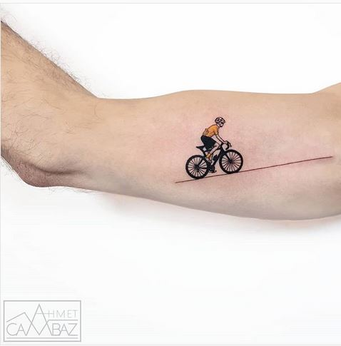 The Cyclist Arm Tattoo