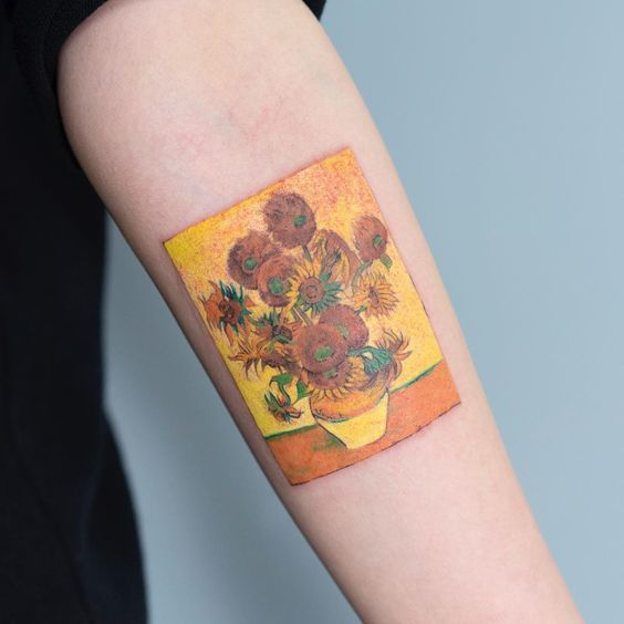 The Sunflowers Forearm Tattoo