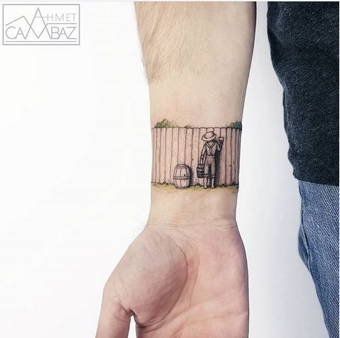 Tom Sawyer Inspired Wrist Tattoo
