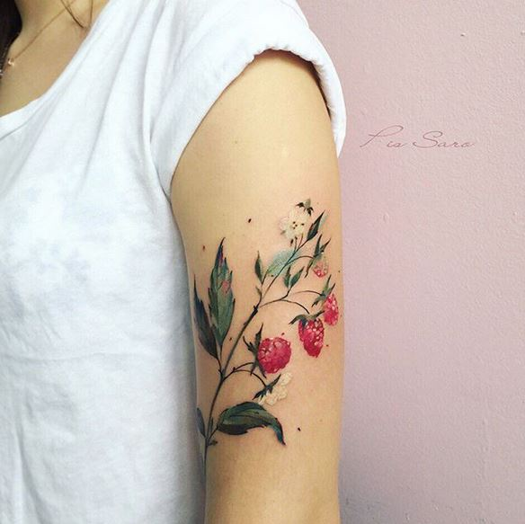 Berry Stalk Arm Tattoo