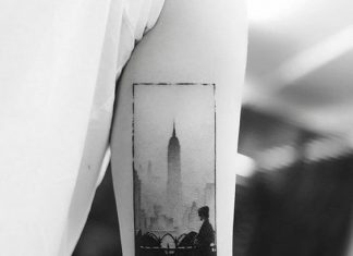 City Silhouette Framed Tattoo