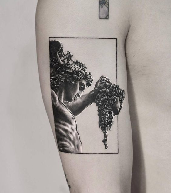 Classical Inspired Framed Tattoo