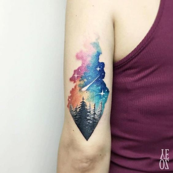 Cosmic Sky Arm Tattoo