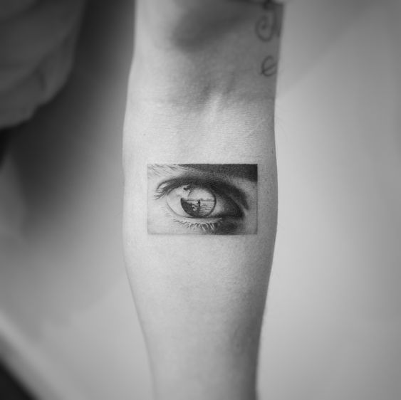 Eye Reflection Forearm Tattoo