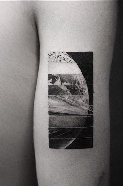 Planets' Sections Arm Tattoo
