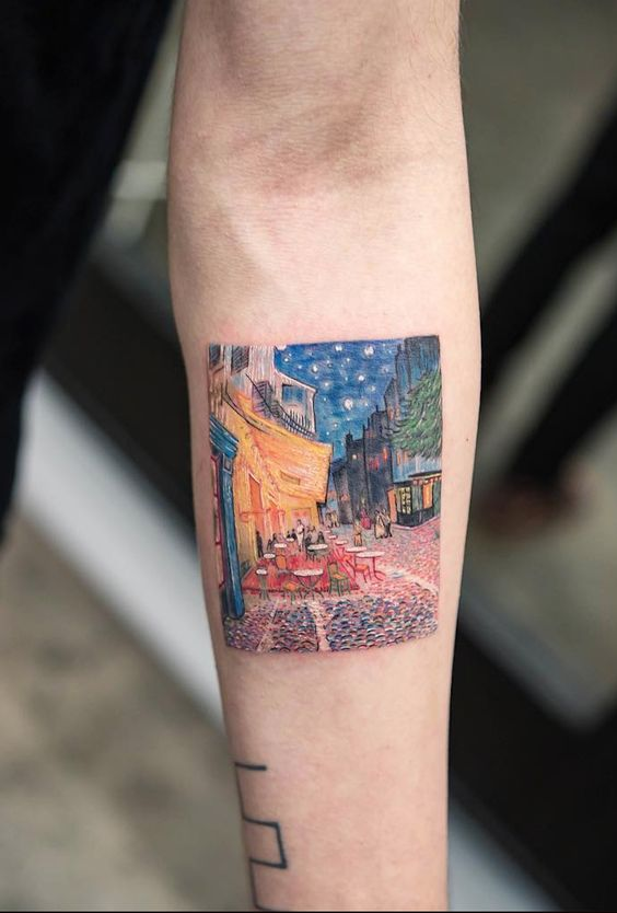 Street View Forearm Tattoo