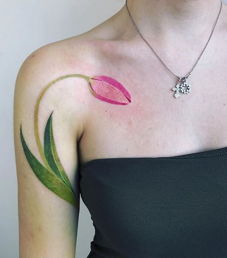 Tulip Arm Tattoo