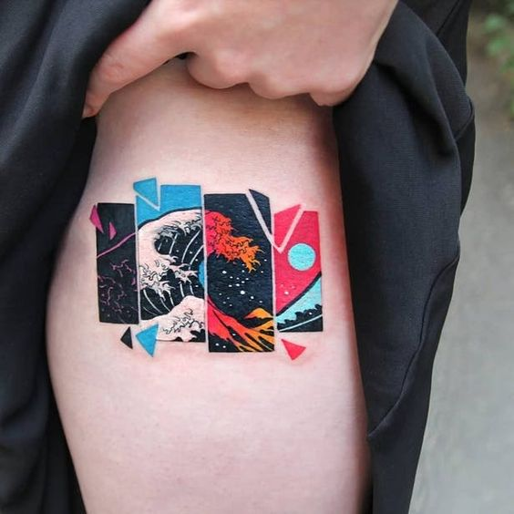Wanderlust Segmented Framed Tattoo