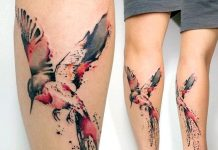 Watercolor Hummingbird Arm Tattoo