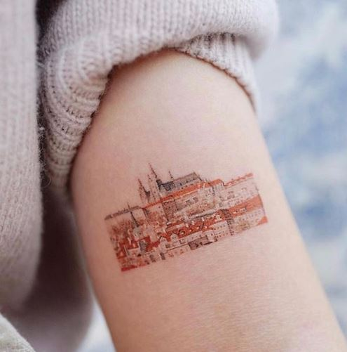 Architectura Themed Arm Tattoo