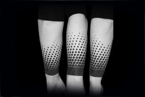 Blackwork Dots Forearm Sleeve Tattoo