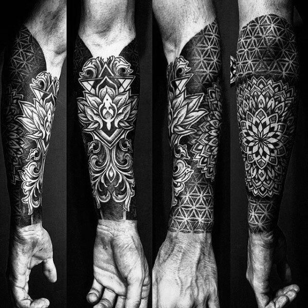 Gorgous Ornamental Forearm Sleeve Tattoo