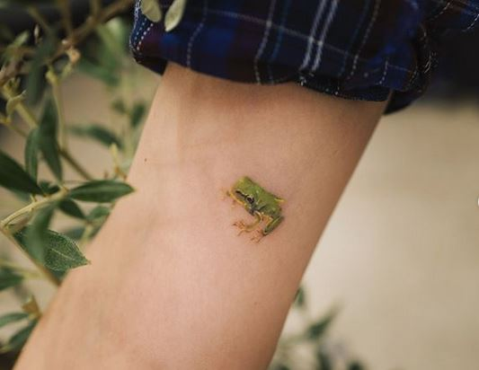 Subtle Frog Forearm Tattoo