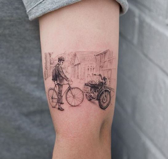The Biker Arm Tattoo