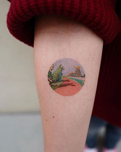 The Red Path Forearm Tattoo