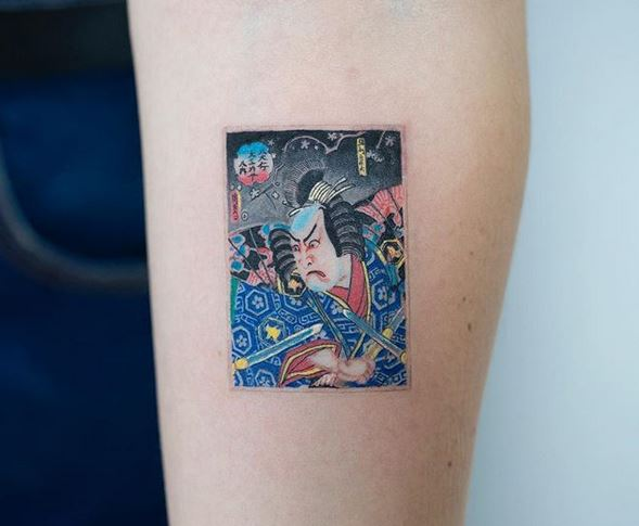 Japanese Old Art Arm Tattoo