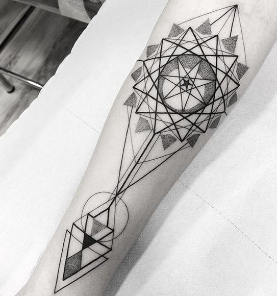 Sacred Geometry Forearm Tattoo
