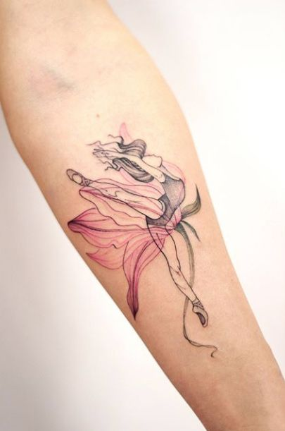 The Ballerina Forearm Tattoo