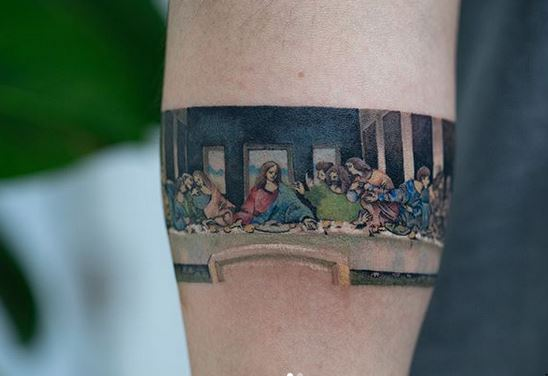 The Last Supper Arm Tattoo
