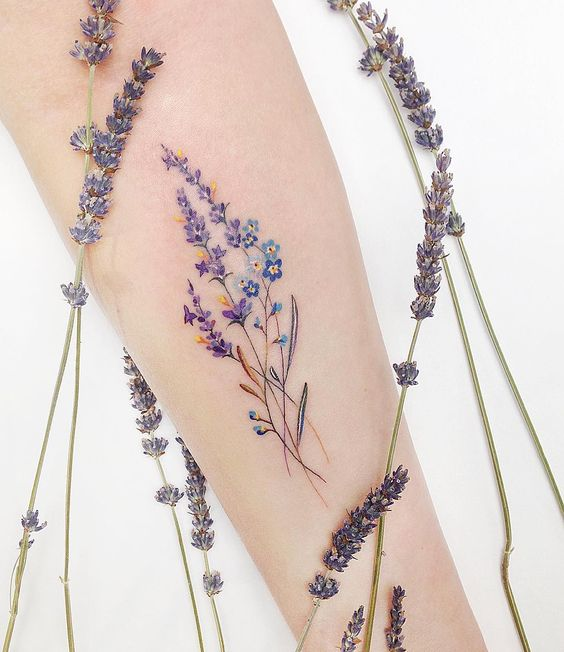 Wildflower Forearm Tattoo