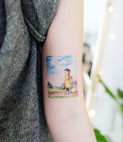 Anne Of Green Gables Arm Tattoo