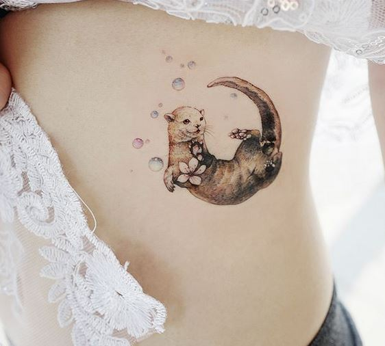 Sea Otter Side Tattoo