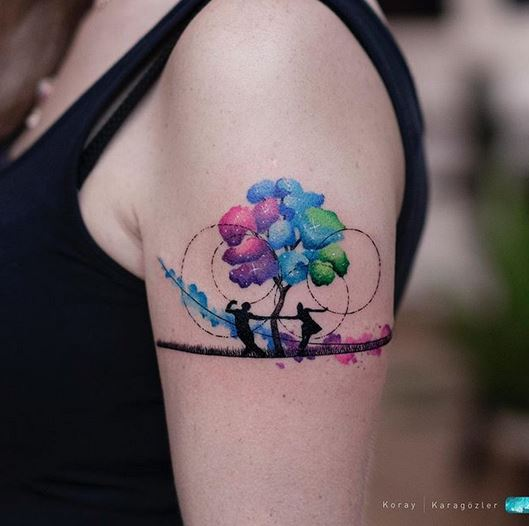 Dancing Silhouettes Arm Tattoo