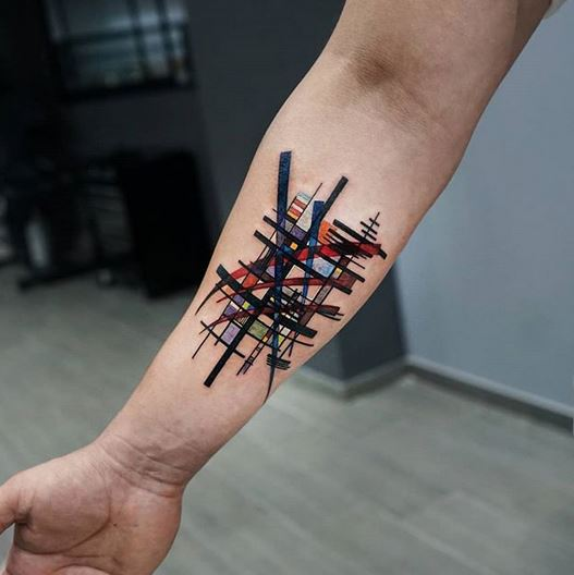 Abstract Forearm Tattoo