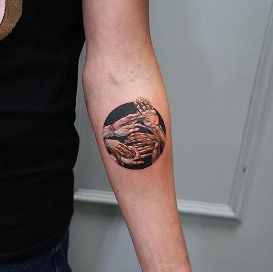 Hand Series Forearm Tattoo