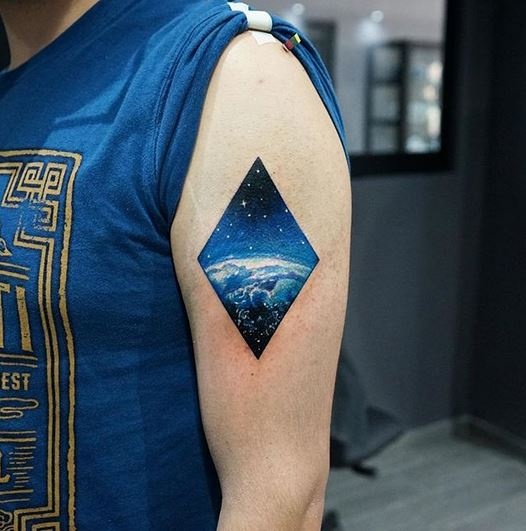 Space Arm Tattoo