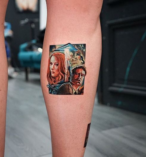 X-Files Leg Tattoo
