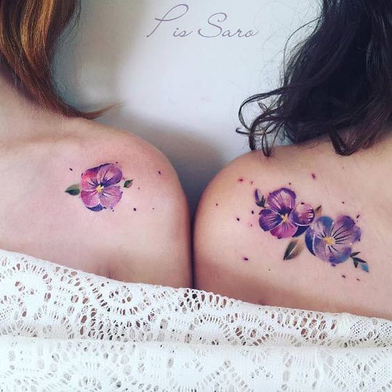Gorgeous Poppies Shoulder Tattoos