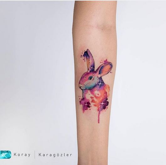 Magical Bunny Forearm Tattoo